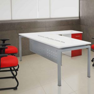 escritorio secretarial con lateral de oficina