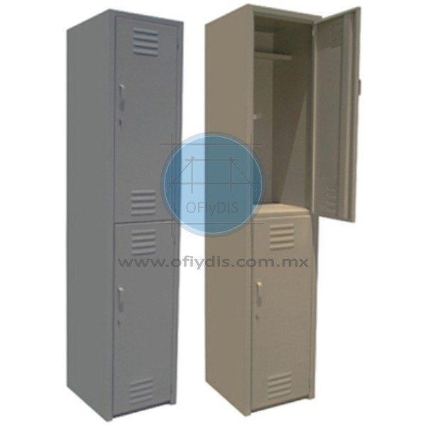 locker de 2 puertas troquelado ofiydis