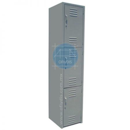 locker de 3 puertas troquelado