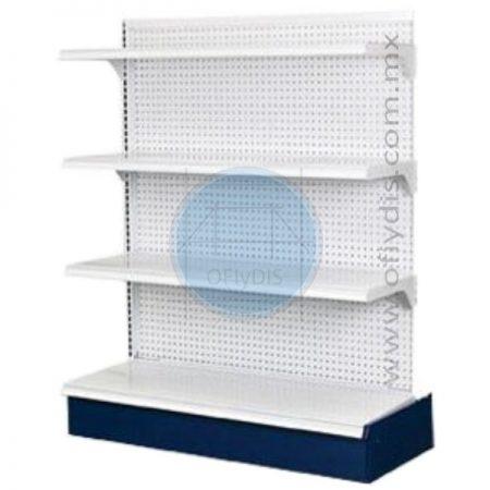góndola central adicional con un solo poste pueden llevar forro de perfocel o forro de panel ranurado ofiydis