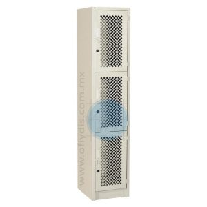 locker con malla total 3 puertas LM-3133-ofiydis