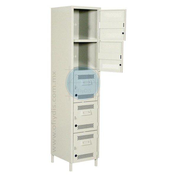 locker con patas 5 puertas LP-3175-a-ofiydis