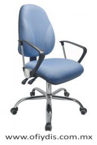 silla operativa para escritorio cromada E-23501-1 ofiydis