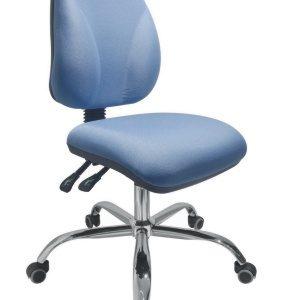 silla operativa para escritorio cromada sin brazos E-23505-1