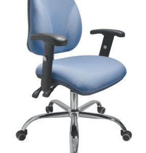 silla operativa para escritorio cromada con brazos E-23511-1