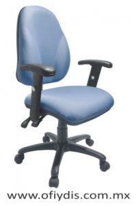 silla operativa para escritorio con brazos E-23561-1