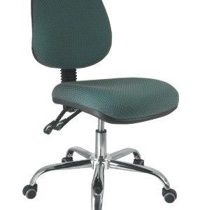 silla operativa para escritorio base cromada sin brazos E-13505