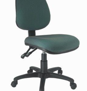 silla operativa para escritorio base negra sin brazos E-13555