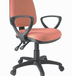 silla secretarial respaldo alto con brazos E-20051-1