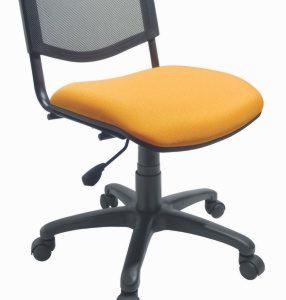 silla de oficina sin brazos respaldo con malla E-27085 ofiydis