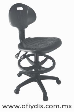 silla industrial cajera con respaldo 2 palancas E-28086 ofiydis