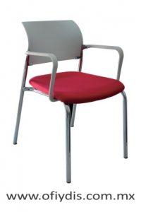 silla vistante de oficina cromada E-39501 ofiydis