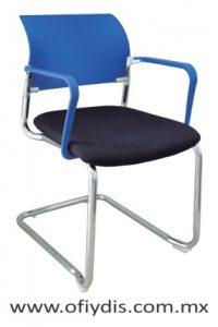 silla para visita cromada con brazos E-39511 ofiydis