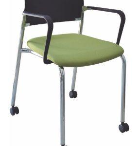silla para visita cromada E-39541 ofiydis