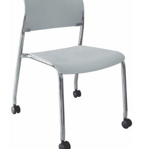 silla de visita cuatro patas cromada con rodajas sin brazos E-39550 ofiydis