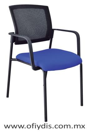 silla de visita cuatro patas E-38561-3 ofiydis