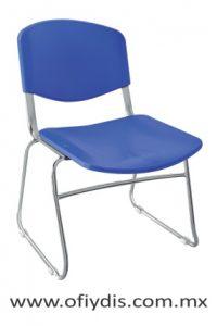 Silla de visita estructura tipo trineo, sin brazos, asiento y respaldo polipropileno. E-35008 ofiydis