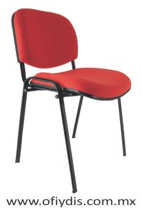 silla de visita 4 patas tubo eliptico E-35050 ofiydis