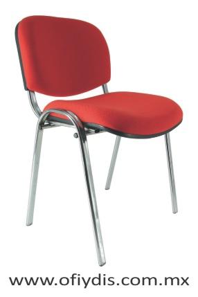 silla para visita 4 patas cromada E-35000 ofiydis