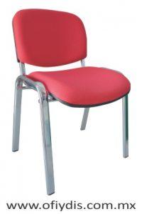 silla de visita para oficina 4 patas cromada E-36000-1 ofiydis