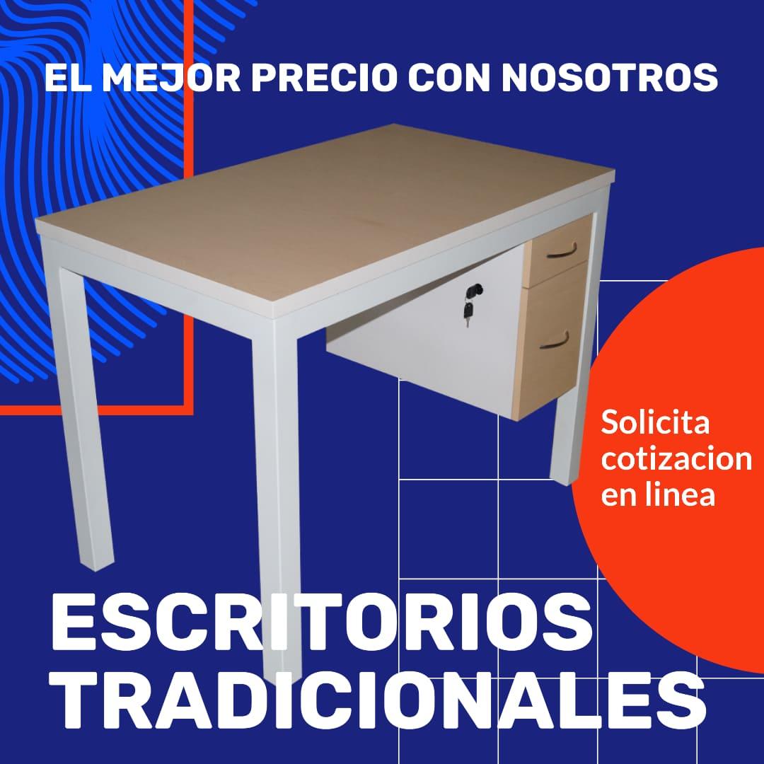 escritorio pata metalica