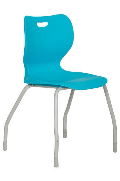 SILLA VISITA AB-100 azul