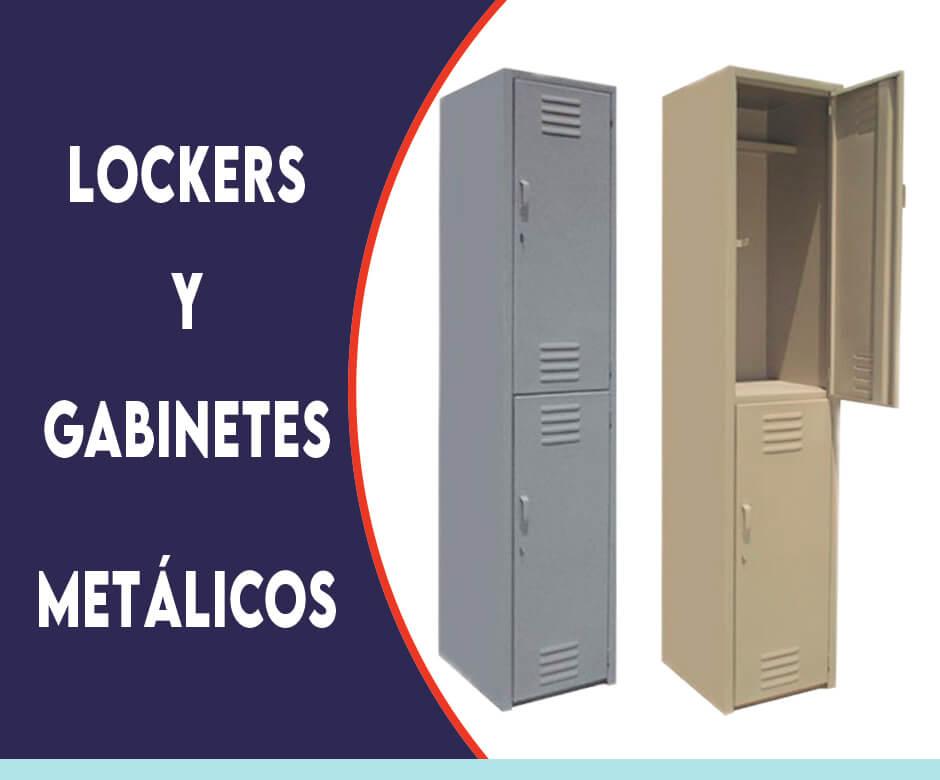 LOCKERS Y GABINETES METÁLICOS